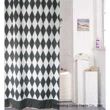 Black+White Fabric Shower Curtain Polyester