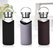 Botella de agua de vidrio con cubierta de alto aislamiento