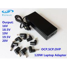 Adaptateur secteur universel 120W Alimentation pour ordinateur portable Adaptateur pour ordinateur portable
