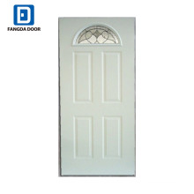 Fangda classic steel glass door with lock bore
