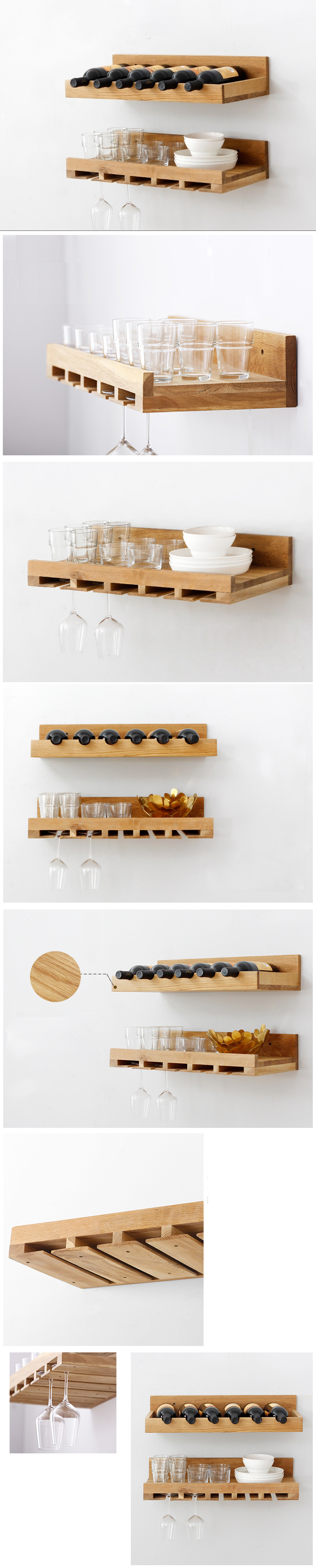 Wooden Wall-mounted Storage