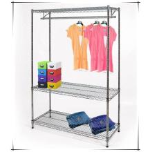 Estante ajustable del armario del metal del dormitorio casero