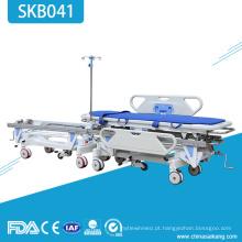 Trole paciente de aço inoxidável da emergência médica SKB041