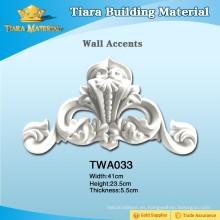 Decoración decorativa de pared de poliuretano / acentos de pared / adornos de pared