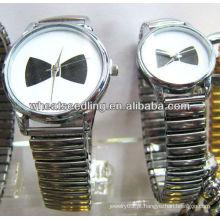 Bowknot impressão em aço inoxidável assistir dom conjuntos atacado relógio de pulso