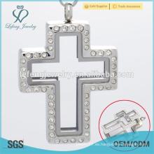 Envío rápido medallón del collar de Jesús, colgante cruzado del locket, colgante del locket del rompecabezas