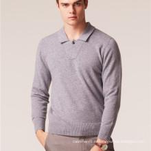 пользовательские весна мужчины отложным воротник кашемир вязаный свитер