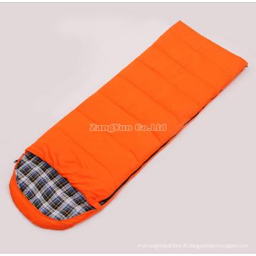 Flanelle en gros peut être épissé sacs de couchage pour adultes