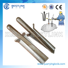 Traditional Manual Hand Splitter Wedge and Shims for Rock Splitting