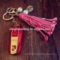 Dekoration Perle Quaste Schlüsselring Auto Großhandel keychain Leder