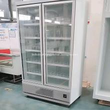refrigerador de tela com duas portas de vidro