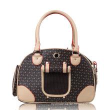 Luxury Leather Outdoor Pet Carrier Bag Cat Dog Puppy Comfort Bag Soft Tote Travel Bag Airline Shoulder Handbag for Dog