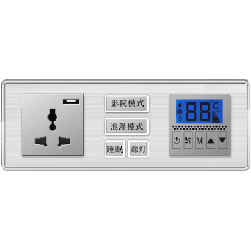 Interruptor inteligente Interruptor SAIPWELL Productos para el hogar inteligente Control doble Interruptor táctil de pared de 1 cuadrilla
