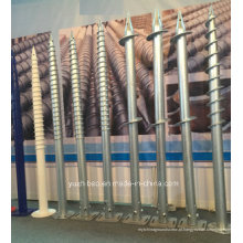 PV Montagem HDG ou Power Coated Ground Scrow, Helix Ground Screw