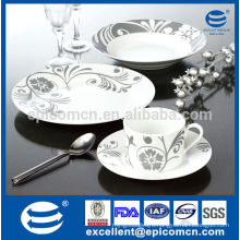 upmarket 16pcs round kitchenware royal New Bone China