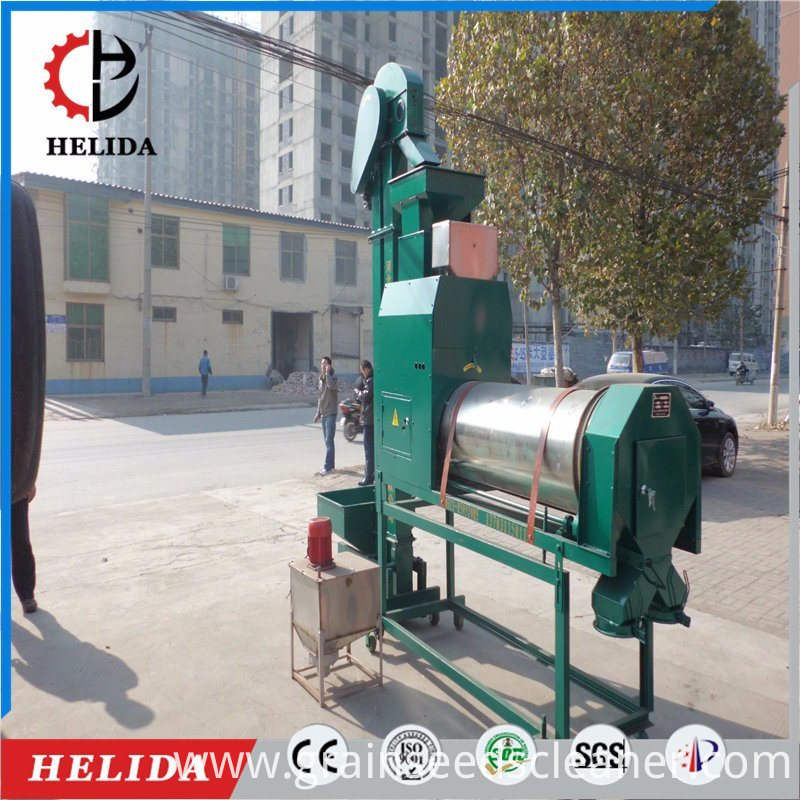 Seeds coating machine
