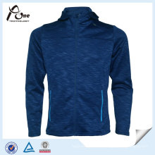Full Zipper Fleece Polyester barato al por mayor chaqueta de deporte para hombre