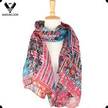 Дешевый оптовый красочный шарф лета весны