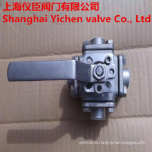Manual Operation Four Ways Thread Ball Valve