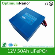 LiFePO4 batería 12V 50ah para la luz de calle solar