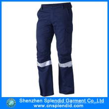 Azul desgaste ao ar livre algodão segurança senhoras calças de trabalho