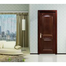 Portas de dois painéis de painel simples, 1/4 portas de madeira de design arqueado, 100% de madeira sólida