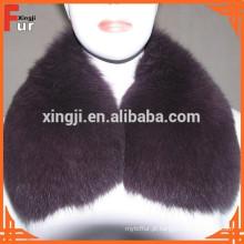 Pele de raposa / jaqueta de couro gola de pele