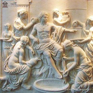 European Hand Made 3D Wall Decor Marble Relief For Hotel/Front Yard/Indoor