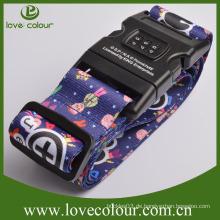 Kundenspezifische justierbare Reise-fördernde bunte gute Qualitätskombination-Verschluss-Gepäck-Gurt