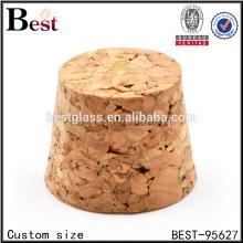 posavasos de corcho de madera de tamaño personalizado posavasos pequeño tapón de corcho de madera de la botella de vidrio al por mayor