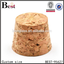 custom size wooden cork cup coasters wholesale small glass bottle wooden cork stopper