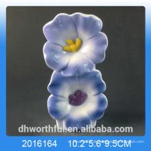Blauer Blumenentwurf keramischer Luftbefeuchter für Raum