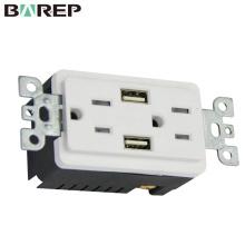 USB зарядное устройство антивандальный штепсельной розетки Дуплекса