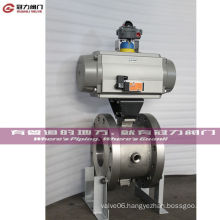 Wafer Flange Pn10 Pn16 Class 150/300 V Segment Ball Valve