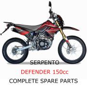 Serpento Dirt Bike Defender150cc Part Complete Parts