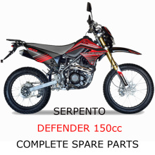 Serpento Dirt Bike Defender150cc Parte completa de piezas
