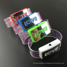 Valentine's Day Favor Love Letter Flashing bracelet