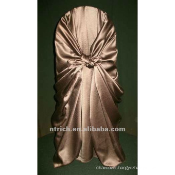 self-tie back chair cover,CT191 satin chair cover,universal chair cover