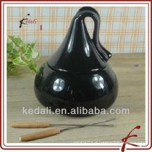 Conjunto de fondue de chocolate de cerâmica