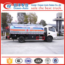 Dongfeng pequeño 5000l camión cisterna de aceite, 5000 litros camión cisterna de combustible
