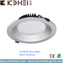 Blanco negro Dimmable LED Downlights accesorios AC110V