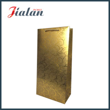 Customize Golden Color with Hot Stamping Shopping Gift Paper Bag