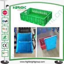 Escaninhos plásticos dobráveis, caixa plástica, recipiente plástico
