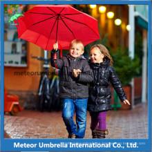 Artículos de lujo seguridad plegable sol y la lluvia promoción regalo niños niños paraguas