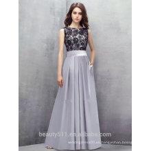 Vestido formal largo elegante del vestido de noche del satén del cordón de la cucharada del A-line de la nueva manera y vestidos ED583