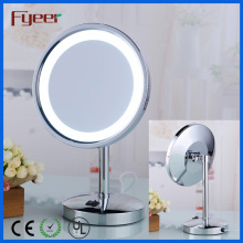 Fyeer 8 Inch Single Side Round Makeup LED Table Mirror