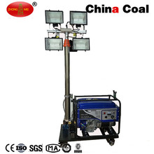 Outdoor Mobile Gasoline Generator LED Lighting Tower