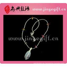 Collar artesanal de cuentas de perlas de ágata artesanal de Guangzhou