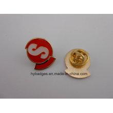 Эмаль позолоченные значки, штыри отворотом металла (GZHY-ка-030)
