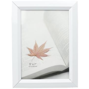 Белый ПВХ фото рамка в 5 x 7 дюймов